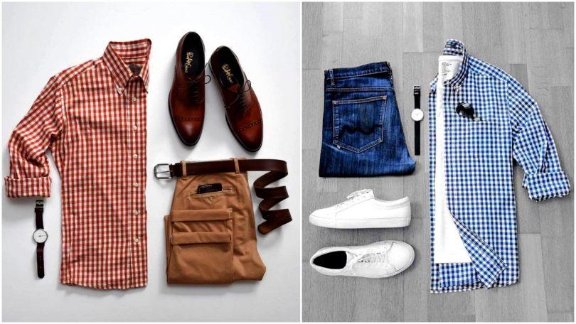 تنسيق ملابس للجامعه للرجال قمصان وبنطلونات وقمصان وأحذيه