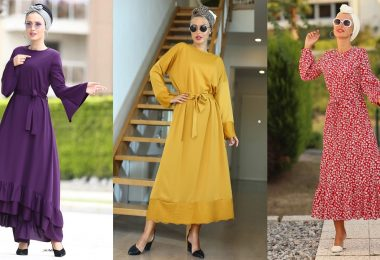 veiled dresses Turkish casual for hiking 2020