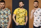 Turkish men's t-shirts with tree patterns for summer and eid 2020