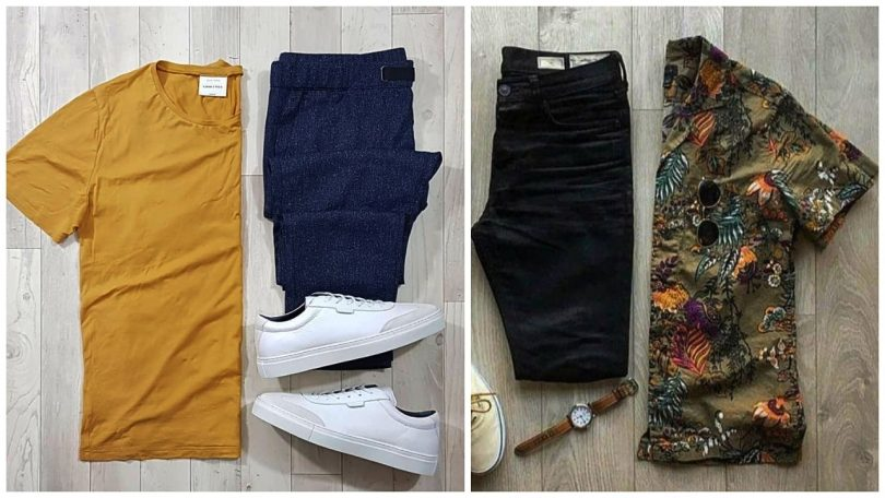 Men casual youth clothing sets summer 2020